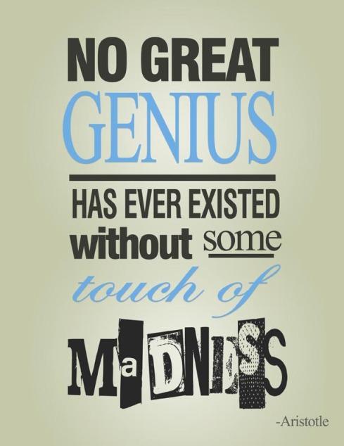 genius madness aristotle