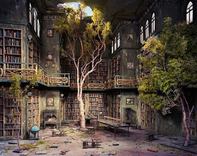 book fantasy library trees (1) | the secret keeper