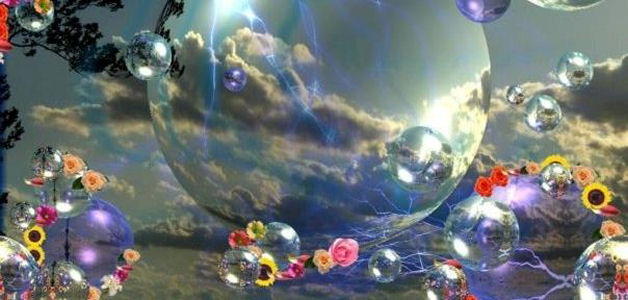 living inside of bubbles with flowers they burst and reality touches your soul