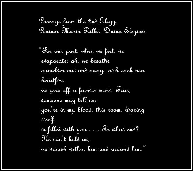 rilke duino elegies passage 2nd
