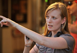 "Sarah Polley on the set of ""Take This Waltz"""