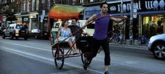 take this waltz rickshaw to restaurant