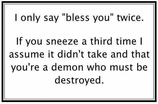 sneeze three times demon