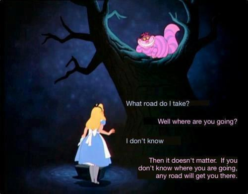what road to take  alice cheshire cat