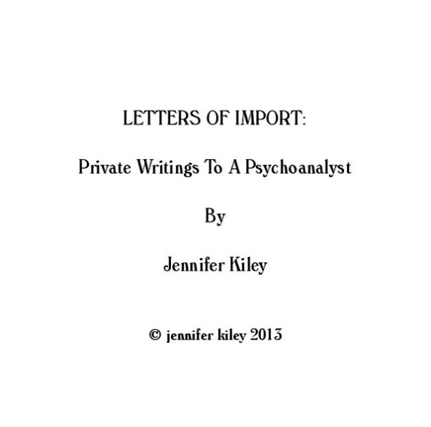 letters of import title page