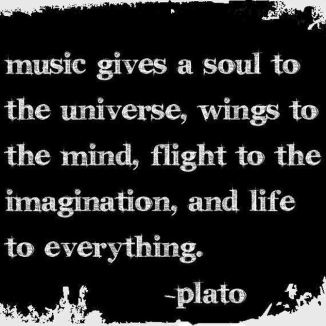 music gives soul plato