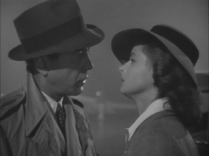 "Casablanca: Rick Blaine & Ilsa Lund ""Here's Looking At You Kid."" 1024x768"