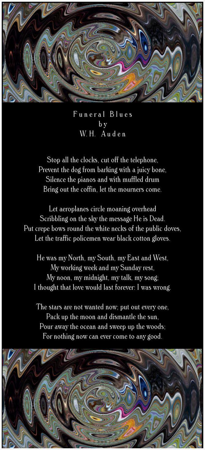funeral blues w.h. auden