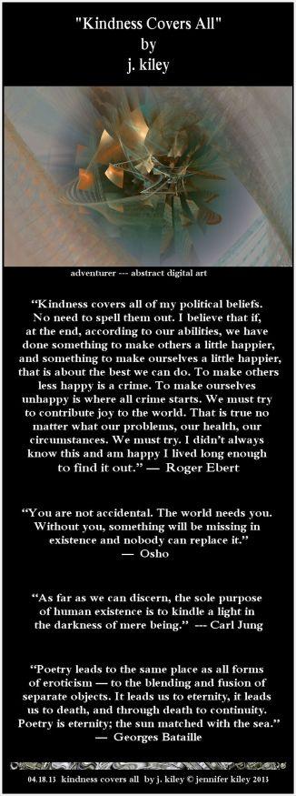 kindness covers all by j. kiley (c) jennifer kiley