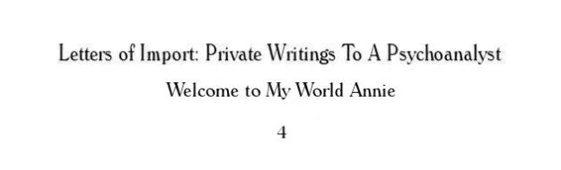 letters - welcome to my world annie 4