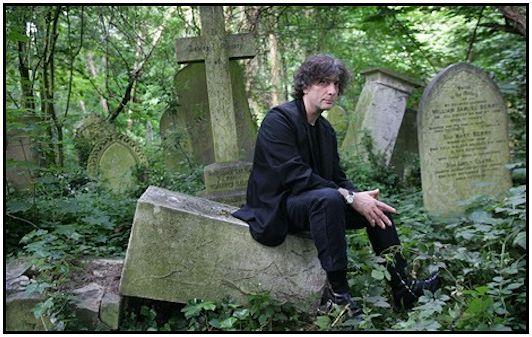 Neil Gaiman grave stones in arraigh enlarge