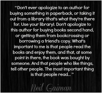 neil gaiman quote important people read edit