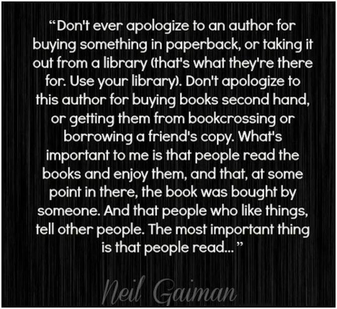 neil gaiman quote important people read edit
