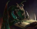 scribe-small dragon at desk