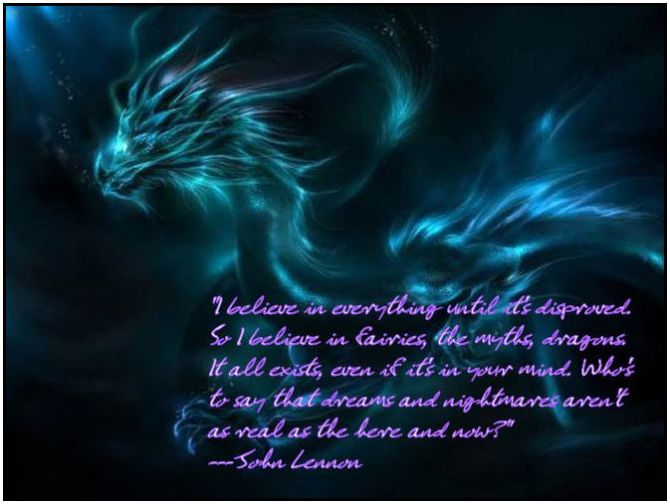 4p dragon-blue john lennon quote