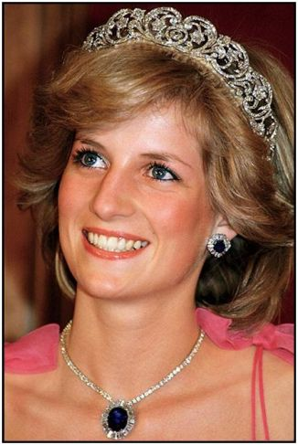 diana with blue gem and tiara