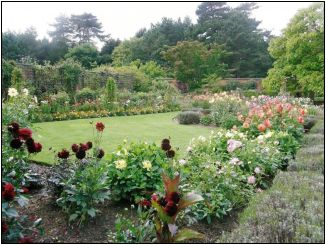 English Garden at Chateau de Rocher estate  972x732