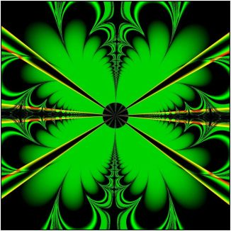 four_leaf_clover_for_good_luck_by_svitakovaeva fractal art