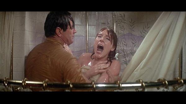 julie-andrews DL Rock julie in shower he turns on cold water