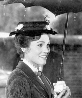 julie-andrews MP on set raining