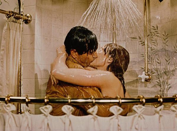 julie rock kissing in shower DL