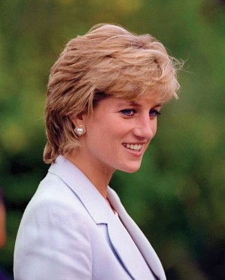Princess Diana in pale blue jacket  1286x1600