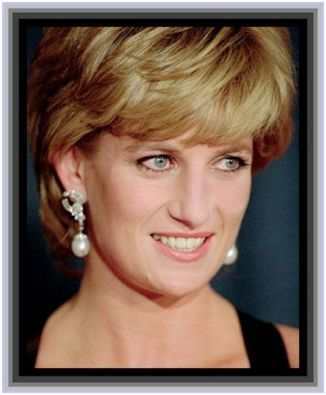 princess diana smiling dressed in black