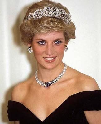 Princess-Diana with tiara