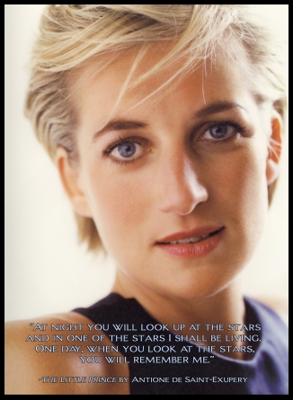 Princess Diana with quote from Antoine St. Exupery  2538x3478