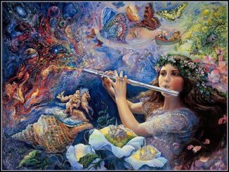 A Flutist Call To Dream --- Artist Josephine Wall   772x582