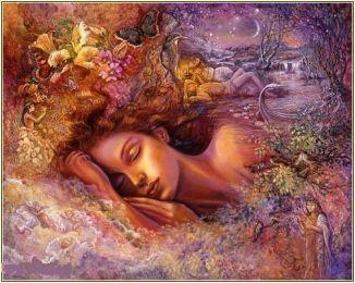 A Sleeper's Fantasy --- Artist Josephine Wall