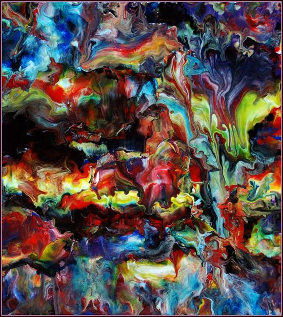 Abstract Fluid Acrylic Art by Mark Chadwick 855x960