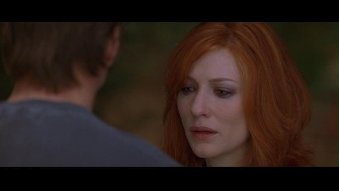 Bandits-cate looking sad with bruce back to us