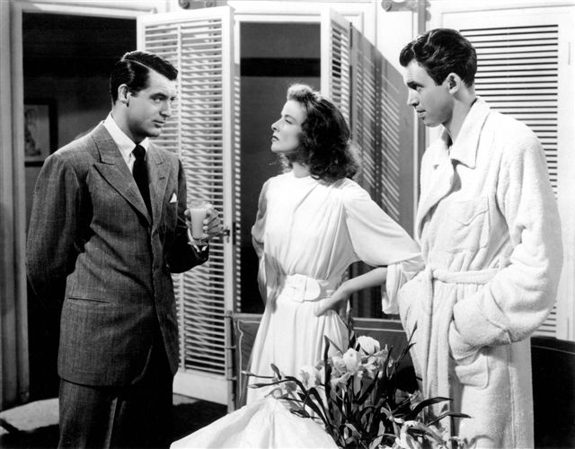 KatharineHepburn the morning after getting drunk cary kate jimmy in robes