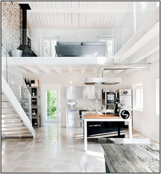 Open White Kitchen  796x862