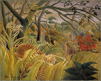 Tiger in a Tropical Storm  Artist Rousseau   968x775