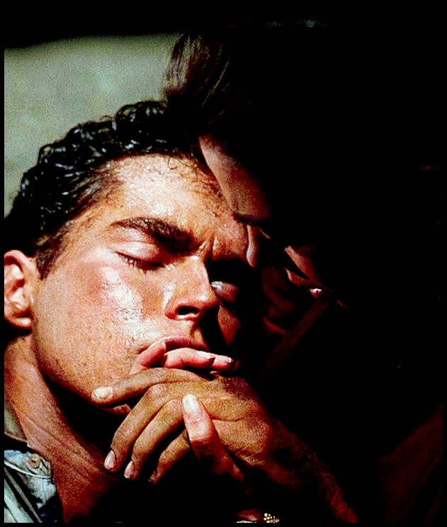 west side story tony in maria's arms he is shot dying 1