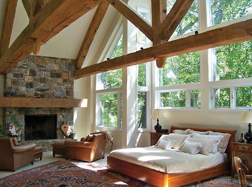bedroom perfect high windows light