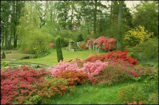 English Country Gardens Chateau de Rocher framed