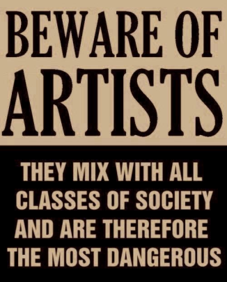 artists are dangerous issued  by joe mccarthy 50s