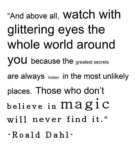 belive in magic