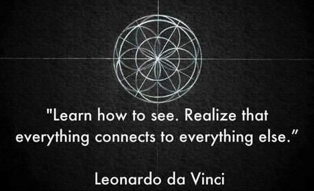da vinci quote everything connects