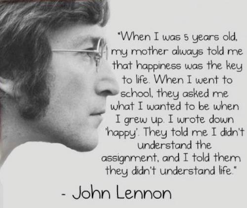 happiness john lennon