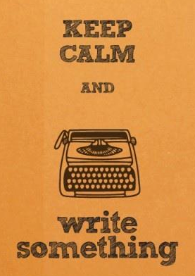 keep calm write something