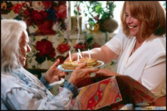 Ninny & Kathy Bates with Birthday FGTs w candles