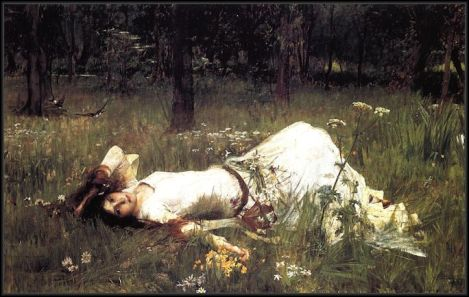 ophelia-1889 john william waterhouse