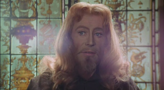 otoole-ruling-class as christ closeup aura surrounds his head