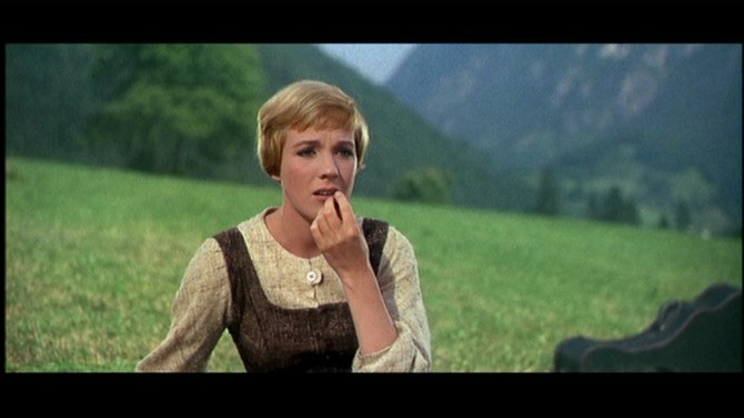 The Sound of Music  Julie Andrews on mtn eating b4 do re mi