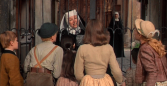 the sound of music kids trying to see maria at the abby