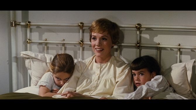 the sound of music maria in bed w two youngest waiting 4 older kids